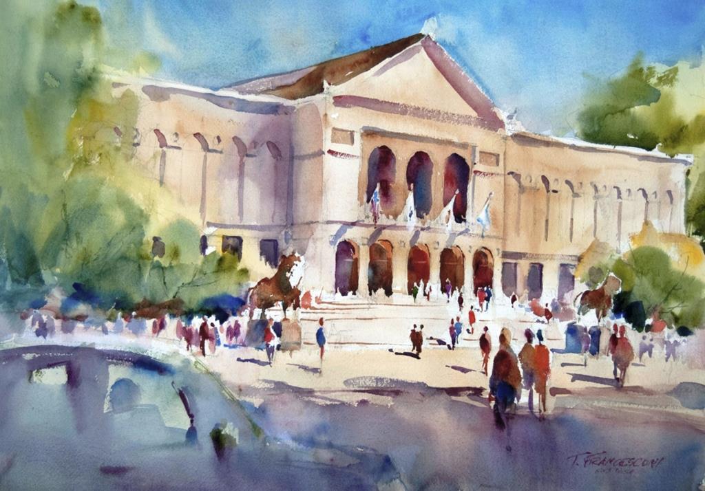 Tom francesconi chicago fine art watercolors for Chicago mural artist